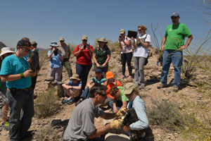 Homeschooled students visit to the field